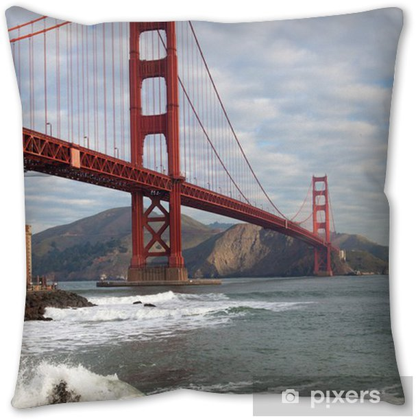 The Golden Gate Bridge In San Francisco California Throw Pillow Pixers We Live To Change