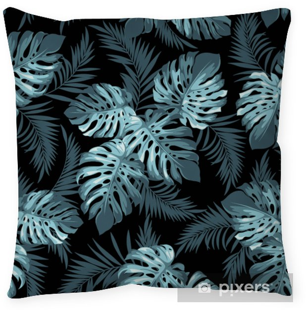 Tropical leaves Throw Pillow - Plants and Flowers