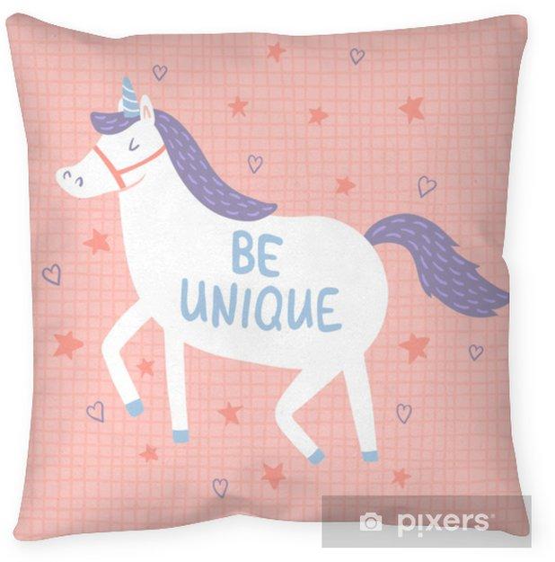 unique unicorn Throw Pillow - Animals
