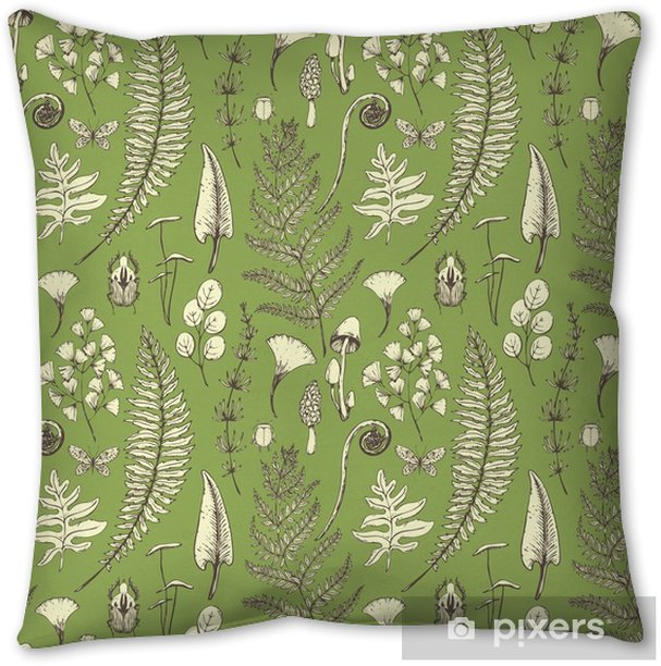 Vector floral pattern Throw Pillow - Plants and Flowers