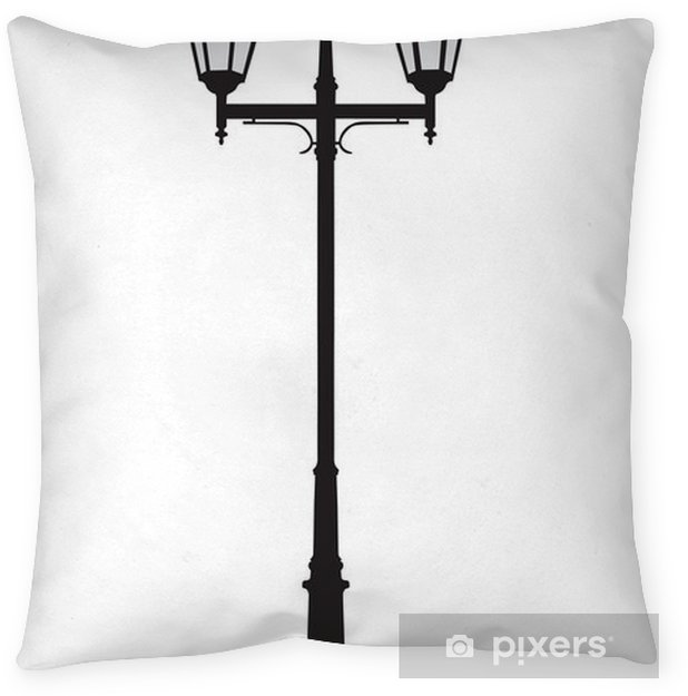 Vector Ilration Of An Old Fashioned Street Lamppost Throw Pillow