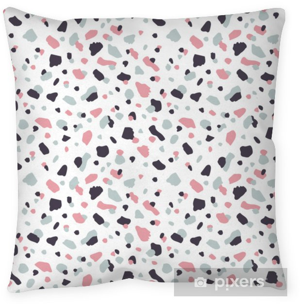 Vector modern terrazzo style seamless pattern background. Throw Pillow - Graphic Resources