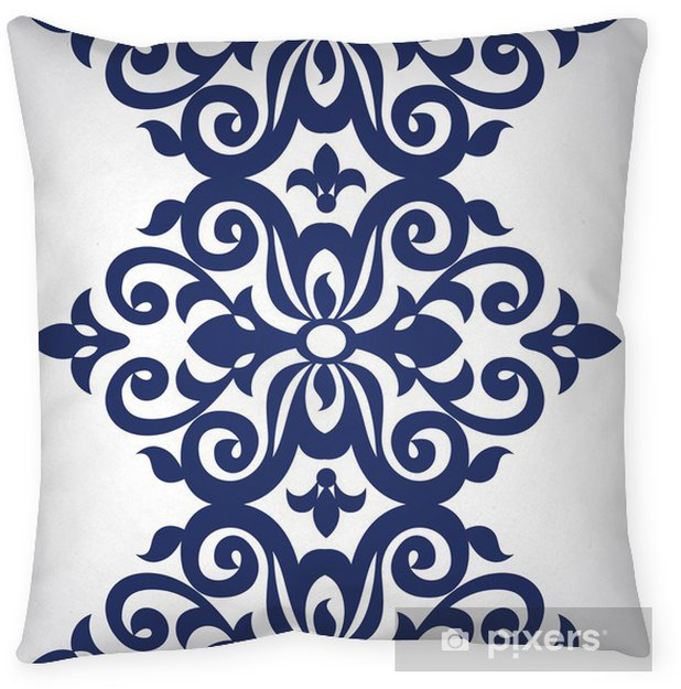Vector Seamless Border In Victorian Style Throw Pillow Signs And Symbols