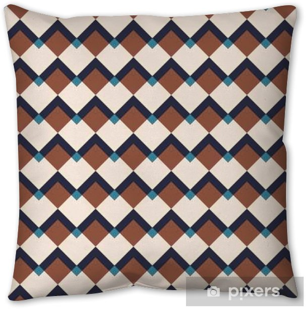 Vintage abstract seamless pattern Throw Pillow - Graphic Resources