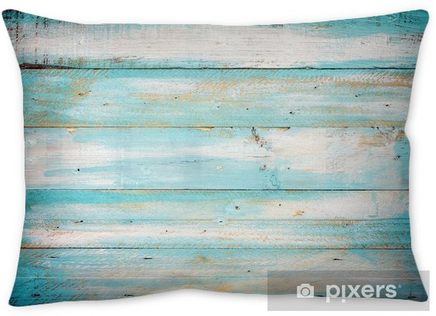 vintage beach wood background - old blue color wooden plank Throw Pillow - Graphic Resources