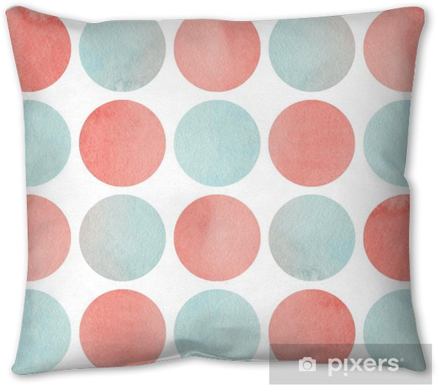 Watercolor Circles In Pink And Blue Color Isolated Over White Throw Pillow Pixers We Live To Change
