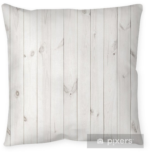 White Table Top View With White Wood Texture Background Wooden Table Top View Throw Pillow