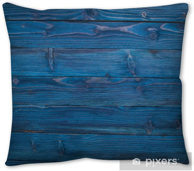Wooden texture blue background. Top view. Copy space. Throw Pillow - Graphic Resources