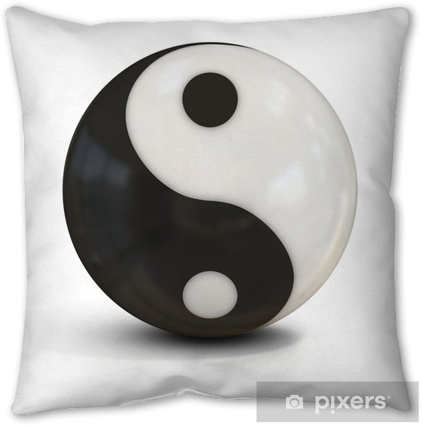 Yin Yang Sphere Throw Pillow Pixers We Live To Change