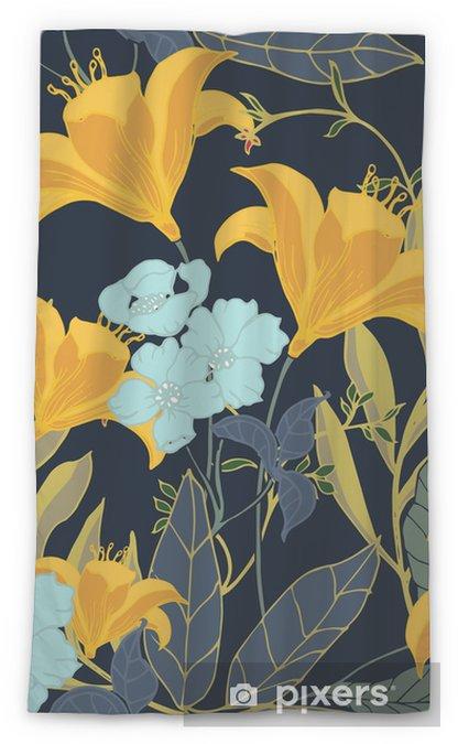 Transparant gordijn Abstract elegantiepatroon met bloemenachtergrond. - Bloemen en Planten