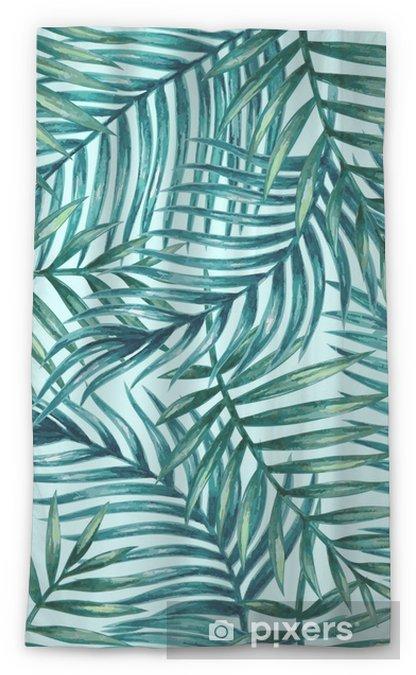 Transparant gordijn Aquarel tropische palm verlaat naadloze patroon. vectorillustratie - Grafische Bronnen