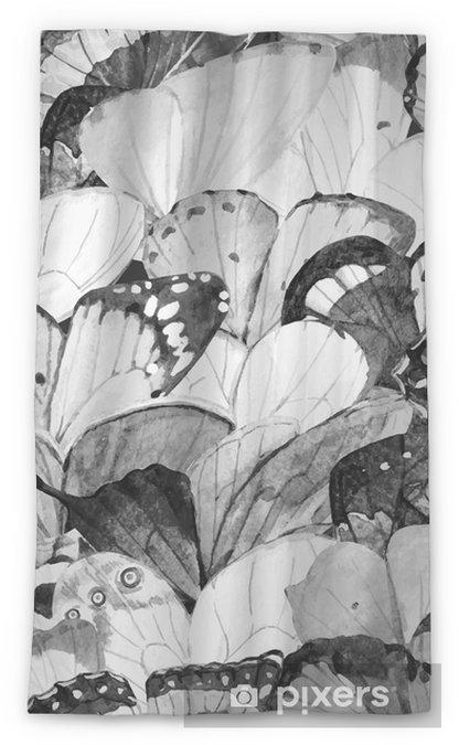 Transparant gordijn Aquarel vlinder vector patroon - Dieren