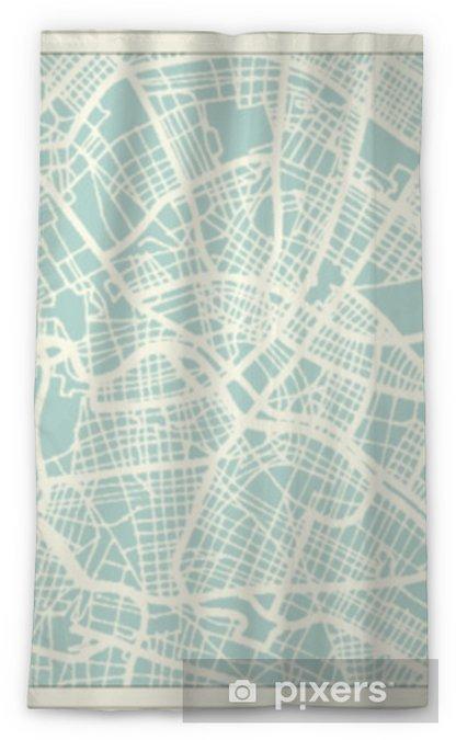 Transparant gordijn Berlijn Duitsland stadsplattegrond in retro stijl. overzichtskaart. - Reizen