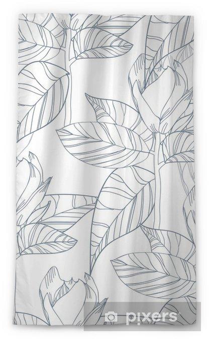 Transparant gordijn Bloemen textuur - Achtergrond