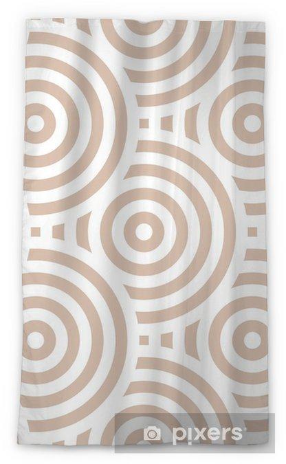 Transparant gordijn Geometrisch naadloos patroon. beige sierontwerp - Grafische Bronnen