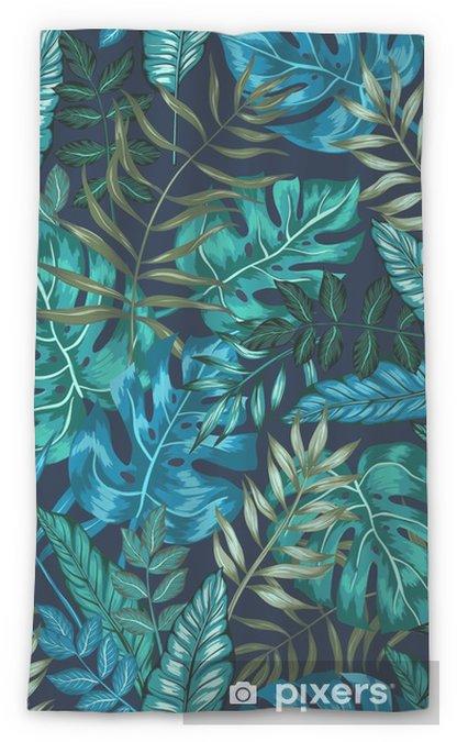Transparant gordijn Naadloze grafische artistieke tropische natuur jungle patroon, moderne stijlvolle gebladerte achtergrond allover print met split blad, philodendron, palmblad, fern varenblad - Grafische Bronnen