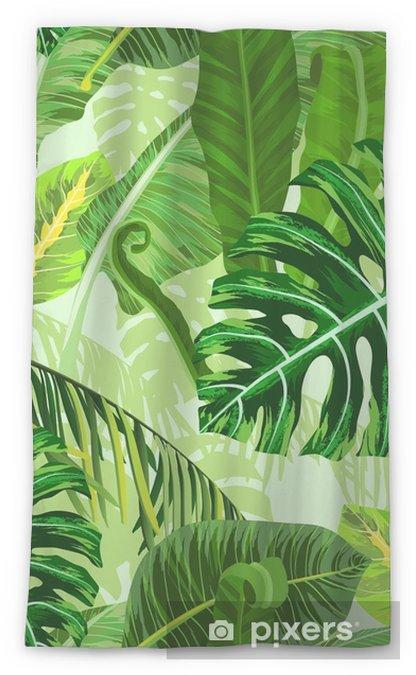 Transparant gordijn Naadloze patroon met tropische palmbladeren - Bloemen en Planten