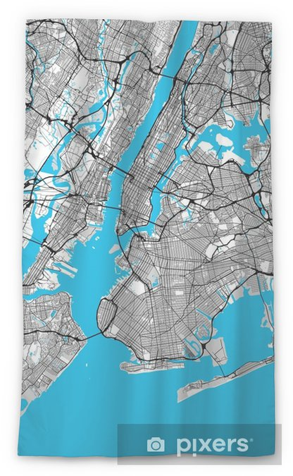 Transparant gordijn New York City grote gebied kaart - Grafische Bronnen
