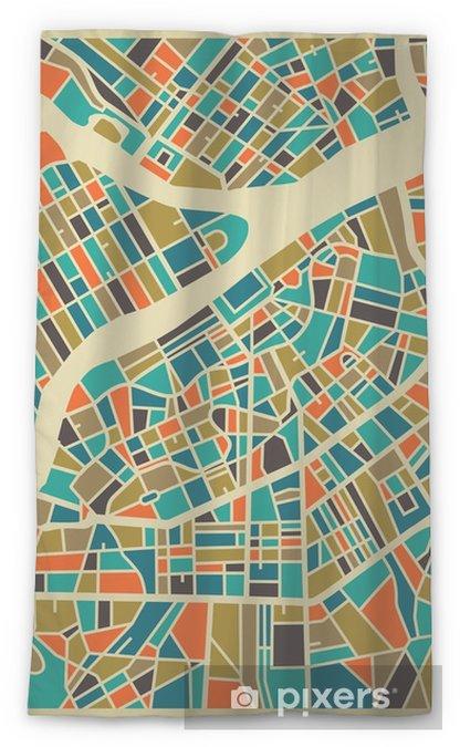 Transparant gordijn Sint-Petersburg vector kaart. Kleurrijk vintage design uitvalsbasis voor reis-kaart, reclame, gift of een poster. - Reizen