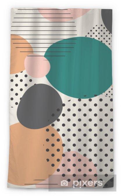 Transparant gordijn Trendy naadloze patroon van geometrische vormen en doodles. kleurrijke patroon memphis stijl - Grafische Bronnen