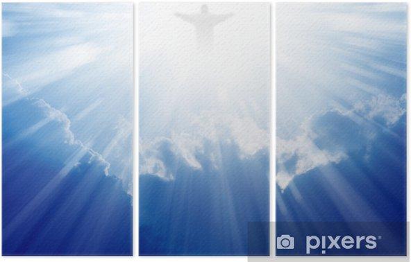 Tríptico Jesucristo en el cielo - Religión
