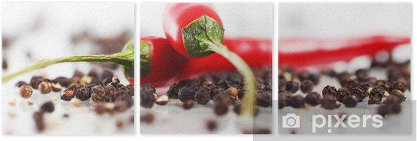 Tríptico Pimienta de chile rojo - iStaging