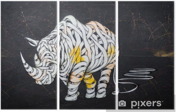 Rhinoceros tag Triptych - Hobbies and Leisure