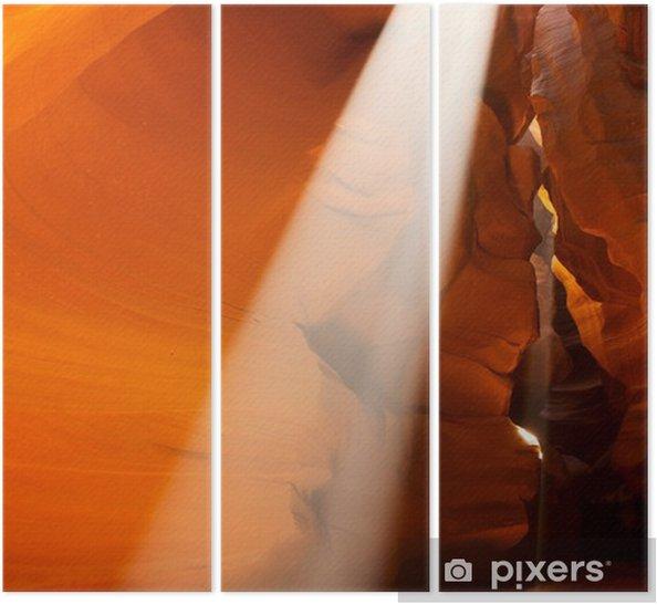 Sunbeam in Upper Antelope Canyon, Arizona, USA Triptych - America