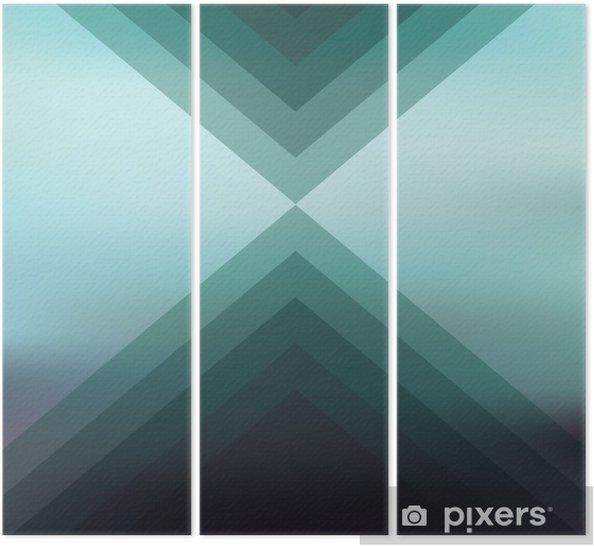 Dunkle Farben.Triptychon Zusammenfassung Unscharfen Hintergrund Mit Geometrischen Formen Dunkle Farben