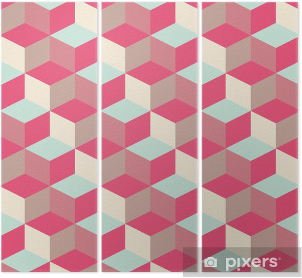 Triptych Krychlový pozadí abstraktní geometrický vzor - Témata