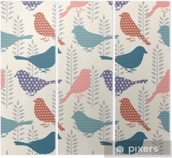 Triptych Ptáci bezešvé vzor - Styly