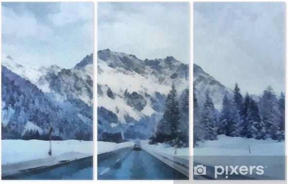 Triptyque Peinture à L Huile Impression D Art Pour La Décoration Murale Oeuvre Acrylique Affiche De Grande Taille Dessin à L Aquarelle Style