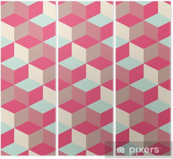 Tryptyk Abstrakcyjne tło sześcienny geometryczny wzór - Tematy