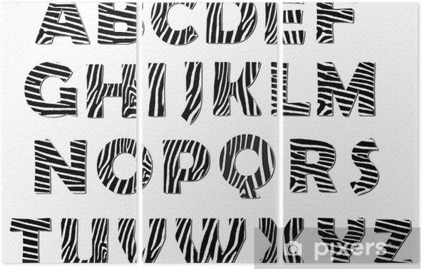 Tryptyk Zebra alfabet wektor paczka - Tematy
