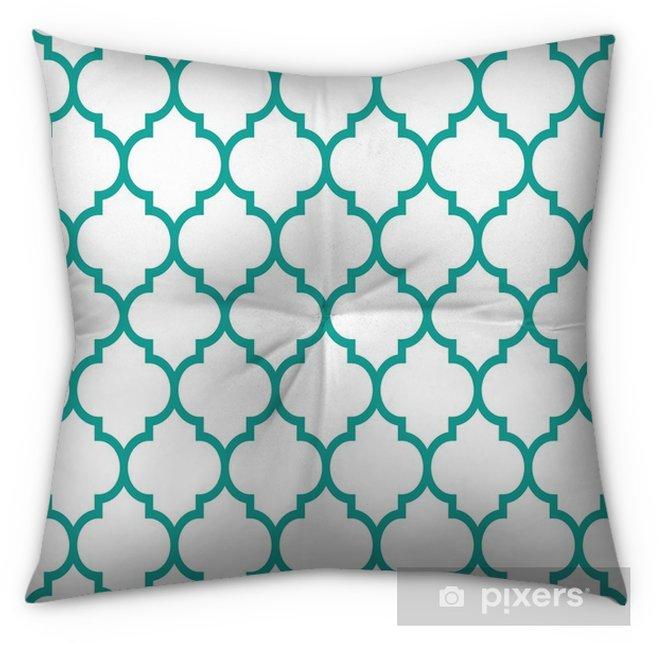 Moroccan Tiles Design, Seamless Turqoise Pattern