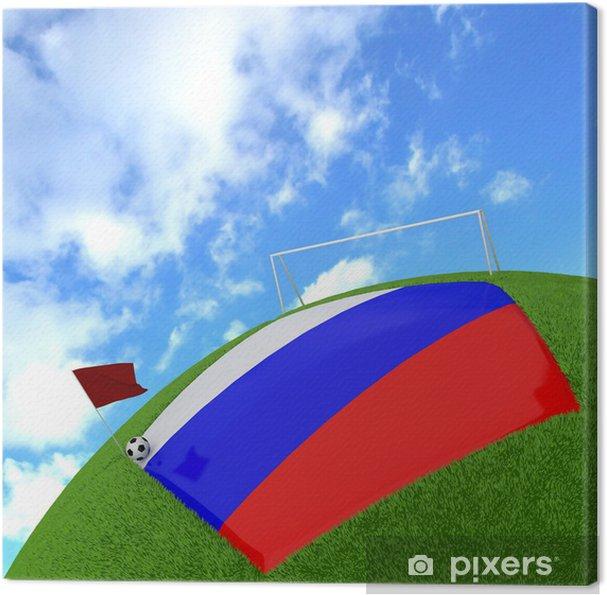 3d Futbol Rusya Bayrağı Tuval Baskı Pixers Haydi Dünyanızı