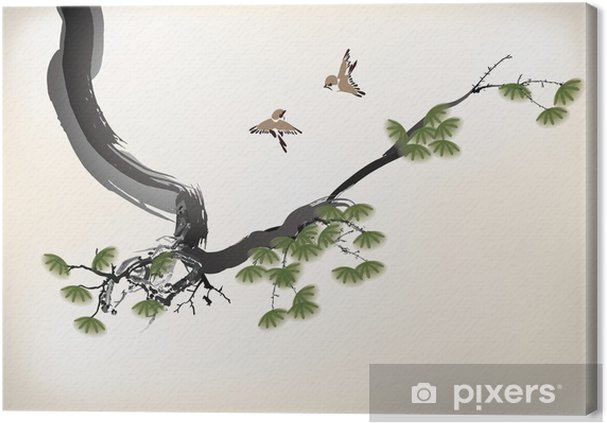 Ağaç Boyama Tuval Baskı Pixers Haydi Dünyanızı Değiştirelim
