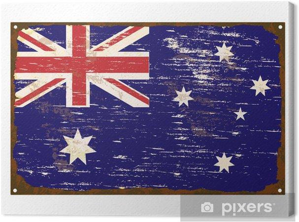 Avustralya Bayrağı Emaye Burcu Tuval Baskı Pixers Haydi