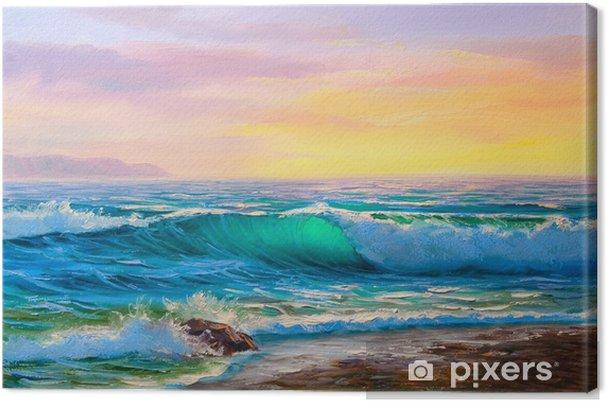 Boyama Deniz Manzarası Tuval Baskı Pixers Haydi Dünyanızı