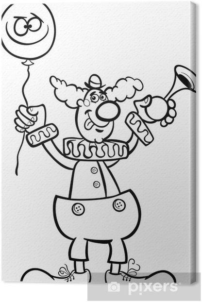 Boyama Icin Palyaco Karikatur Illustrasyon Tuval Baski Pixers