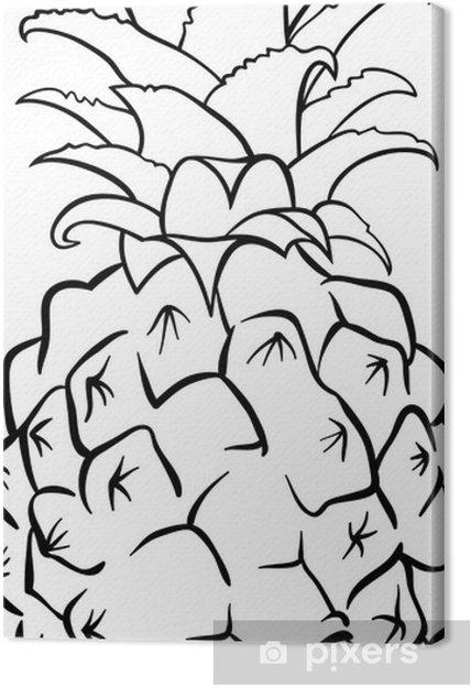 Boyama Kitabı Için Ananas Meyve Tuval Baskı Pixers Haydi