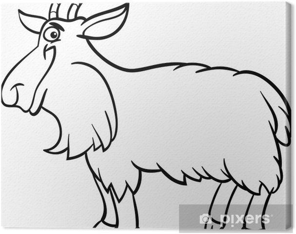 Boyama Kitabı Için çiftlik Keçi Karikatür Tuval Baskı Pixers