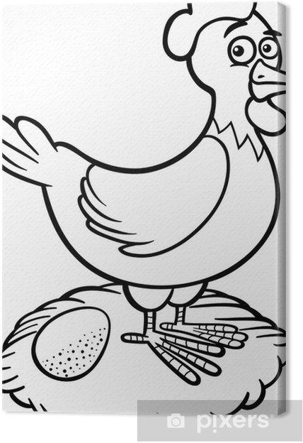 Boyama Kitaby Tavuk Resim Cizmek