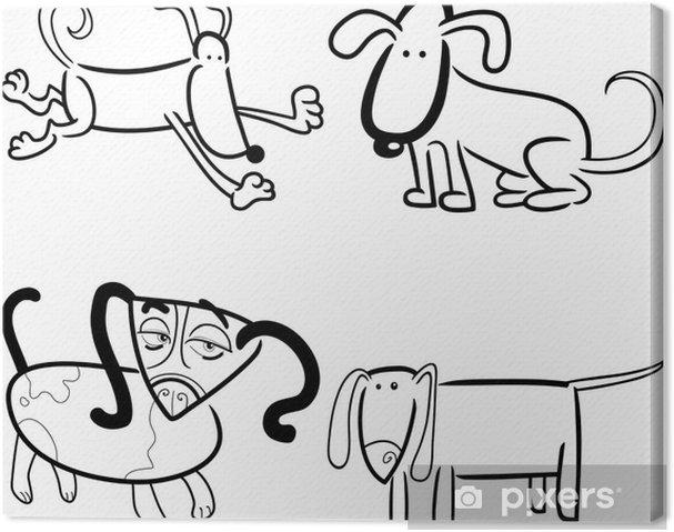 Boyama Köpekler Ya Da Yavru Tuval Baskı Pixers Haydi Dünyanızı