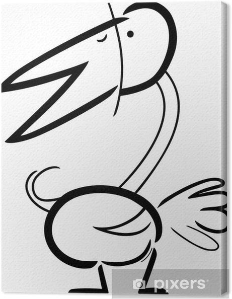 Boyama Kuş Karikatür Doodle Tuval Baskı Pixers Haydi Dünyanızı