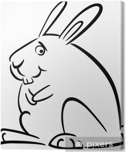 Boyama Tavşan Karikatür Doodle Tuval Baskı Pixers Haydi