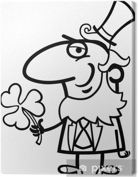 Boyama Yonca Karikatur Ile Cin Tuval Baski Pixers Haydi