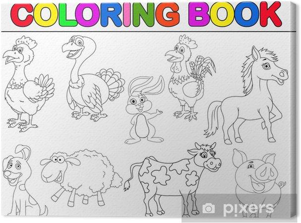 çiftlik Hayvanları Boyama Kitabı Tuval Baskı Pixers Haydi
