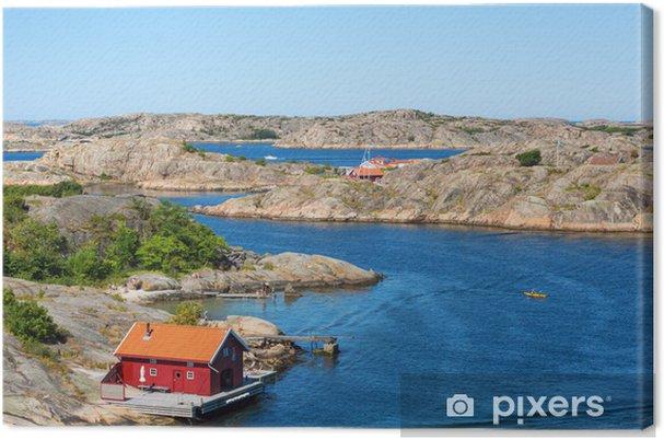 Tuval Baskı Deniz yoluyla Kırmızı yazlık - Avrupa