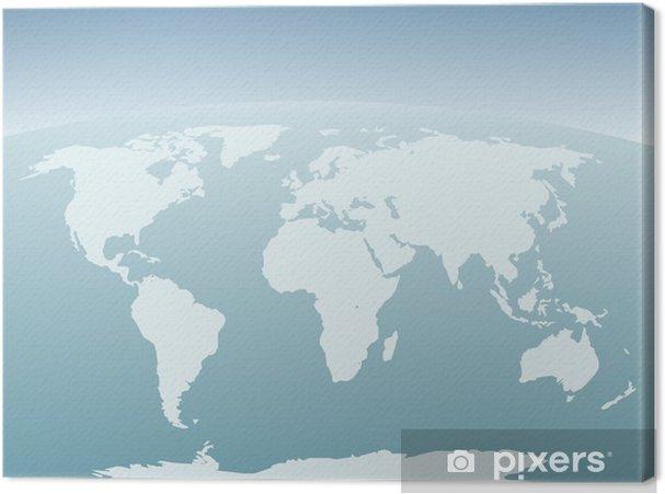 Dünya Haritası Arka Plan Tuval Baskı Pixers Haydi Dünyanızı
